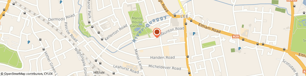 Route/map/directions to Forgotten Finishes, SE12 8PB London, 66, TAUNTON ROAD