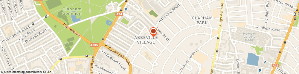 Route/map/directions to Cuffe Vets, SW4 9NF London, 52 Abbeville Rd