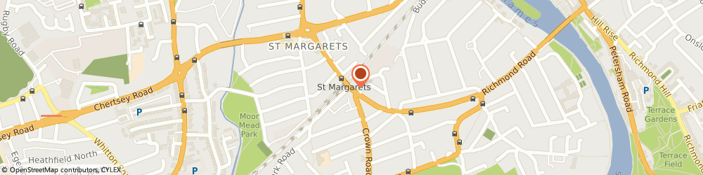Route/map/directions to Post Office Limited, TW1 2AA Twickenham, 118 St Margarets Road