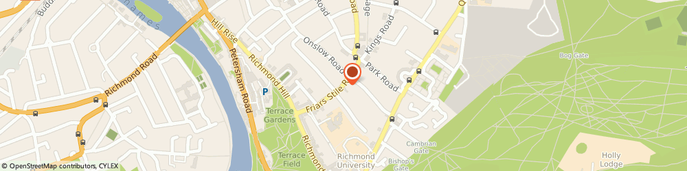 Route/map/directions to The Marlborough, TW10 6NQ Richmond, 46 Friars Stile Road