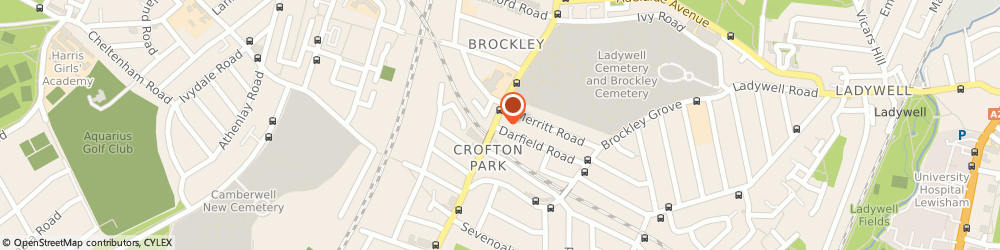 Route/map/directions to Barclays Bank London, SE4 2AH London, 373 Brockley Road