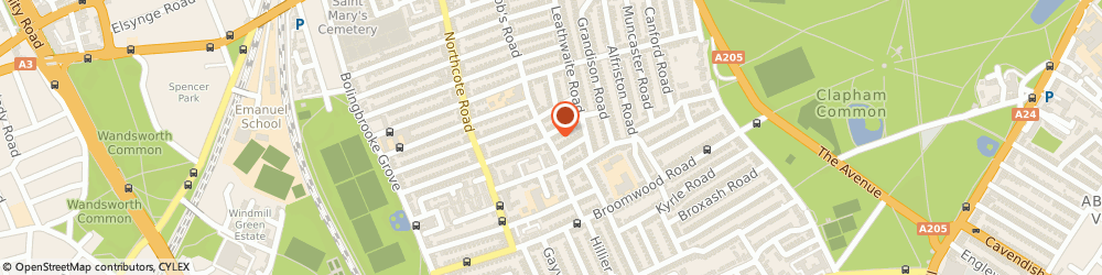 Route/map/directions to Westside Veterinary Clinic, SW11 6SA London, 2 Burland Road