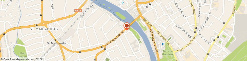 Route/map/directions to L'Oasis Cafe, TW1 2EB Richmond, 410A Richmond Road
