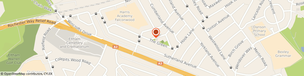 Route/map/directions to Global Uk Ltd, DA16 2PG Welling, 40 Falconwood Parade  The Green
