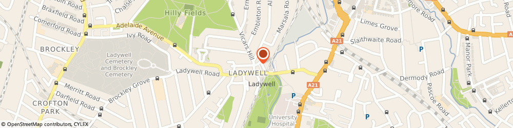 Route/map/directions to Hill Engineering (Catford) Ltd, SE13 7UX London, 1-5 MERCY TERRACE