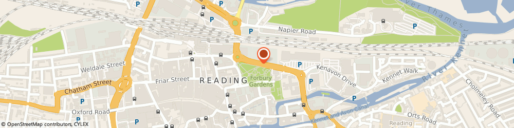 Route/map/directions to Oriel Services Limited, RG1 1AX Reading, 1 CUNNINGHAM LINDSEY, APEX PLAZA, FORBURY ROAD