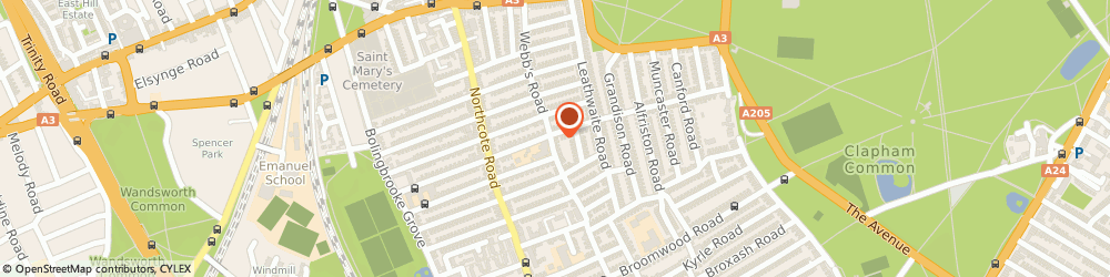 Route/map/directions to Spectrum Garment Care LTD, SW11 6RX London, 39 Webbs road