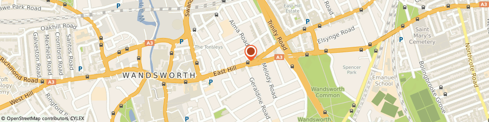 Route/map/directions to Tactica Premium Finance Limited, SW18 2HF London, 100 EAST HILL
