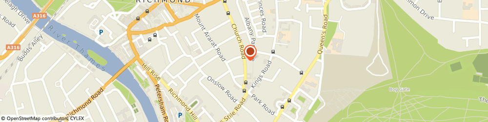 Route/map/directions to The Rubbish Lads, TW10 6LW Richmond, FLAT 5, 100 CHURCH ROAD