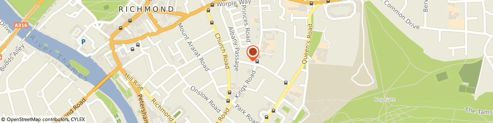 Route/map/directions to Silver Birches, TW10 6HH Richmond, 6 Marchmont Rd