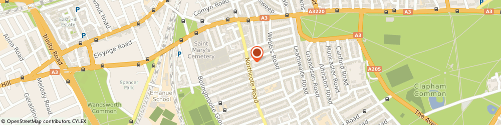 Route/map/directions to Jigsaw - Northcote Road, SW11 6PJ London, 73 Northcote Road
