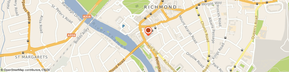 Route/map/directions to COSTA COFFEE, TW9 1TW Richmond, 72 Hill Street