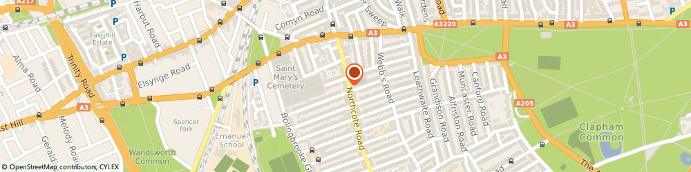 Route/map/directions to Peppermint, SW11 1PA London, 56 Northcote Rd