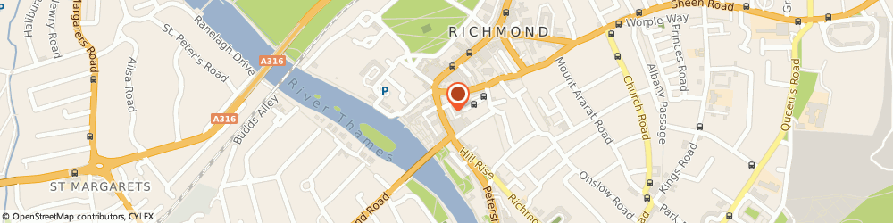Route/map/directions to Hog Roast Richmond, TW9 1TW Richmond, 26 Hill St