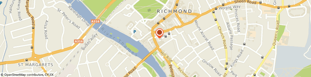 Route/map/directions to Locksmith Kew, TW9 1TW Richmond, 24-28 Hill St