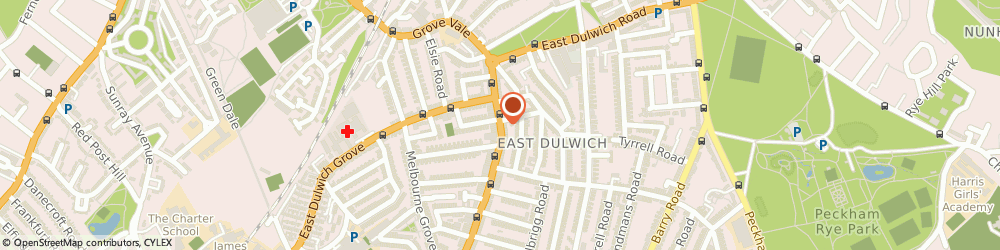Route/map/directions to Greetings UK Ltd, SE22 8HJ London, 50 Lordship Lane