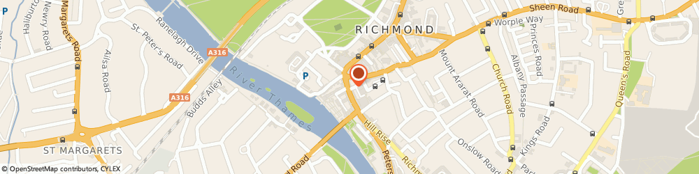 Route/map/directions to Whitewall Galleries Richmond, TW9 1TN Richmond, 18 Hill Street