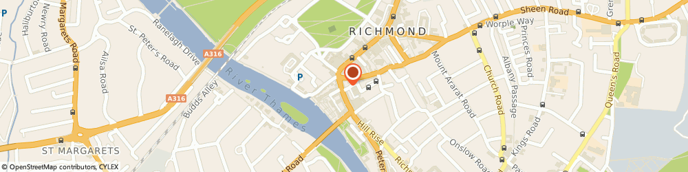 Route/map/directions to David's Jewellers, TW9 1TN Richmond, 16 Hill St