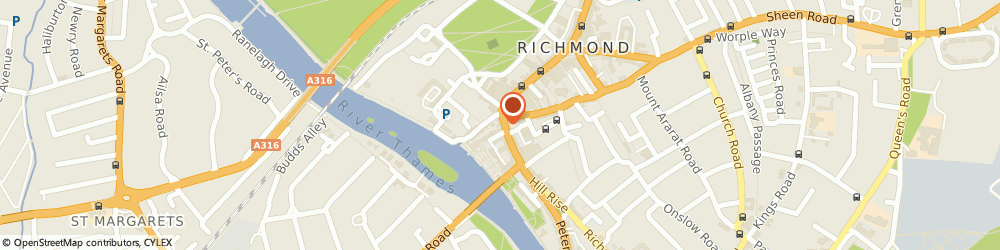 Route/map/directions to Richmond Physiotherapy, TW9 1SX Richmond, 7 Hill St