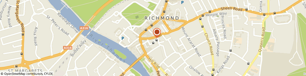 Route/map/directions to Hilltribe Thai Restaurant, TW9 1RW Richmond, 18 Red Lion St