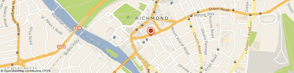 Route/map/directions to Georginas Hairdressers, TW9 1RW Richmond, 32 Red Lion St