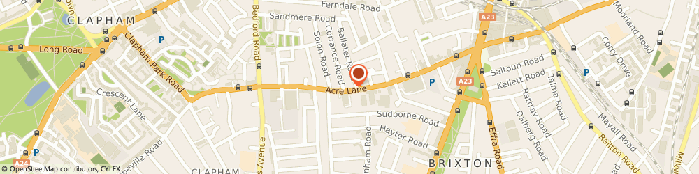 Route/map/directions to Supertone Records, SW2 5RA London, 110 Acre Ln