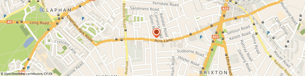 Route/map/directions to UPS Solutions Logistics, SW2 5UT Brixton, 150, Acre Lane