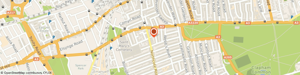Route/map/directions to SCOLIAN TRADING LIMITED, SW11 1NJ London, 25C NORTHCOTE ROAD