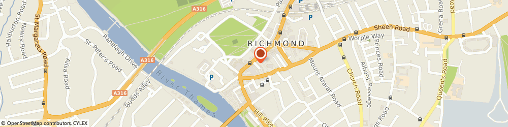 Route/map/directions to WHSmith, TW9 1JS Richmond, 16 - 17 George Street