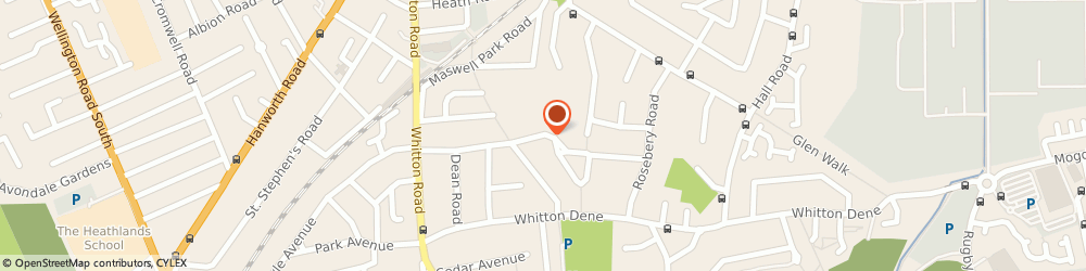Route/map/directions to SW LONDON GAS SERVICES LTD, TW3 2HG Hounslow, 65 Park Road