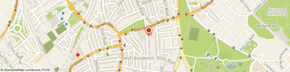 Route/map/directions to Crussh, SE22 9HB London, Dulwich Leisure Centre 2B Crystal Palace Road