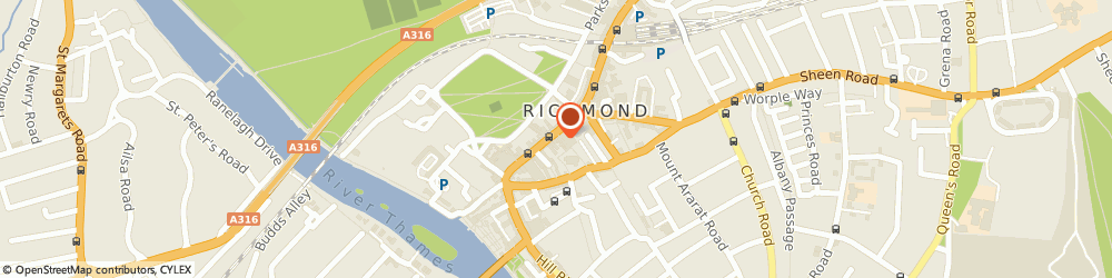 Route/map/directions to Amandas Flowers, TW9 1HY Richmond, 39 GEORGE STREET