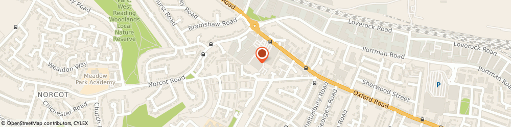 Route/map/directions to Wren Kitchens READING, RG30 1PR Reading, 709-731 Oxford Road