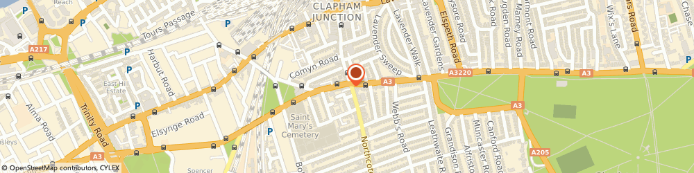 Route/map/directions to The Northcote, SW11 1NT London, 2 Northcote Road