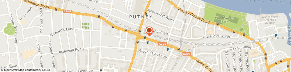 Route/map/directions to Hamptons International Estate Agents Putney, SW15 2SH London, 184 Upper Richmond Road