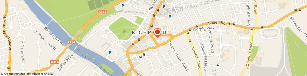 Route/map/directions to Parkgate Lettings & Property Management Group, TW9 1EE Richmond, 8 Eton Street