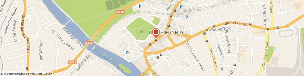 Route/map/directions to Yuma Sushi, TW9 1HH Richmond, 12 Brewers Lane