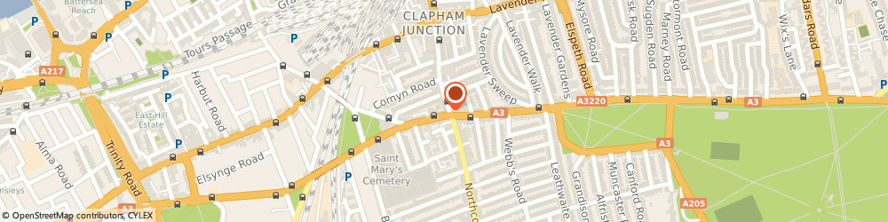 Route/map/directions to KAREN LOCKYER OPTOMETRIST, SW11 1PX London, 98 St. Johns Road