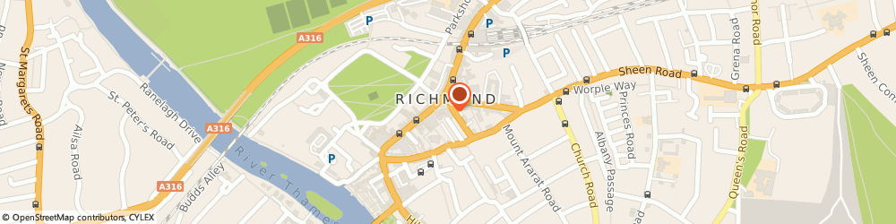 Route/map/directions to Cafe Parisienne, TW9 1HU Richmond, 7 Lower George Street