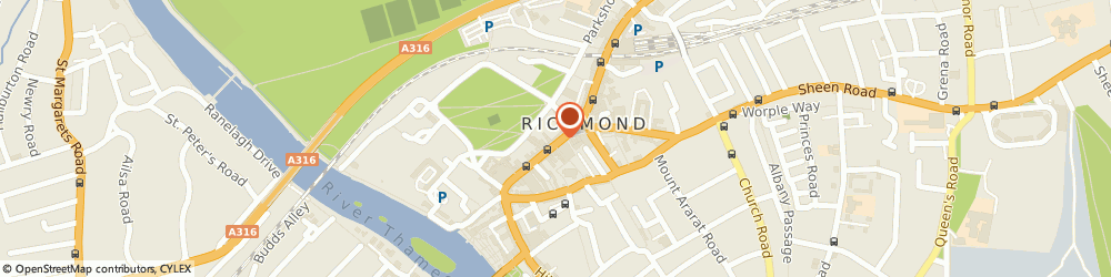 Route/map/directions to Kiss the Hippo Coffee, TW9 1HJ Richmond, 50 George St