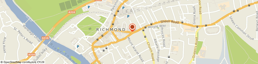 Route/map/directions to Corres Tiles & Flooring, TW9 1AS Richmond, 15 Lichfield Terrace, Sheen Rd