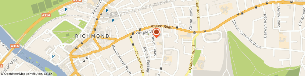 Route/map/directions to Boutique Design Limited, TW10 6DQ Richmond, 17A Princes Road