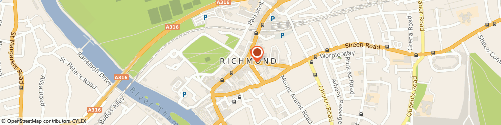 Route/map/directions to Richmond Harvest Vegetarian Restaurant, TW9 1DT Richmond, 5 The Square