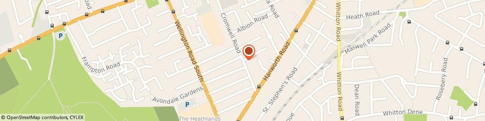 Route/map/directions to Green Chauffeurs, TW3 3JZ Hounslow, 36a Penderel Road