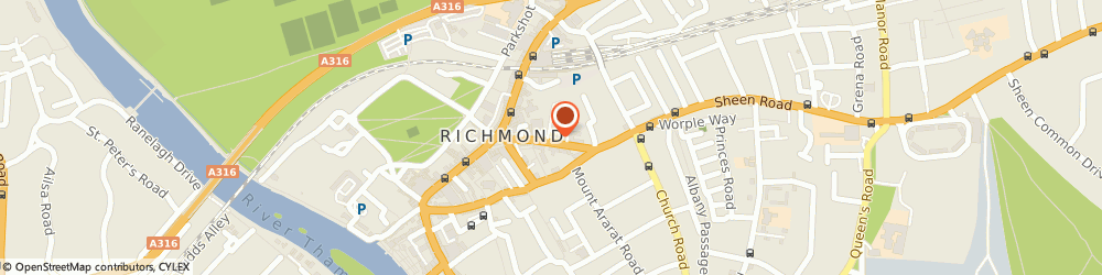Route/map/directions to SHEEN HAIRDRESSING LIMITED, TW9 1AS Richmond, 2 Lichfield Terrace, Sheen Road