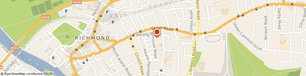 Route/map/directions to 3s Architects And Designers Ltd, TW10 6DQ Richmond, 17A Princes Road