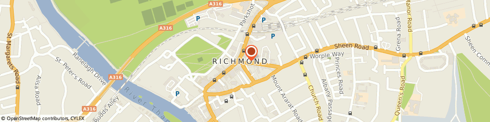 Route/map/directions to Coffeeology, TW9 1DZ Richmond, 4 The Square