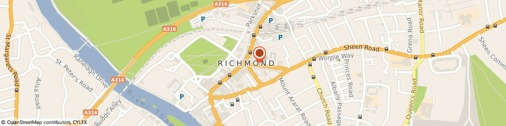 Route/map/directions to Resturante Azzurro, TW9 1DZ Richmond, 7 The Square