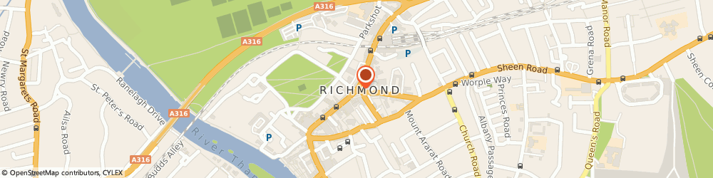 Route/map/directions to Kew Green Hotels (Wakefield) Limited, TW9 1DT Richmond, DOME BUILDING THE QUADRANT