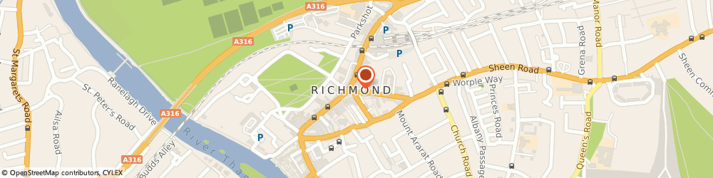 Route/map/directions to Major Son & Phipps Estate Agents, TW9 1DX Richmond, 5A The Square